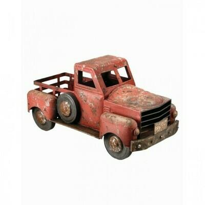 Red Metal Farm Truck