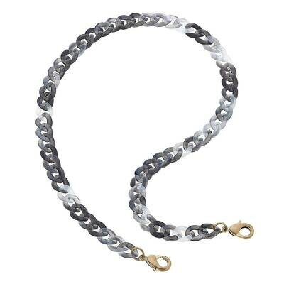 Chain Mask Necklace 22019M-GY-20