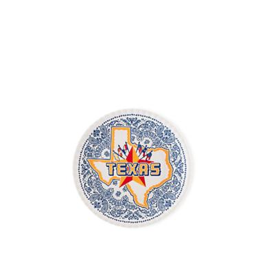 Texas Melamine plates s/4