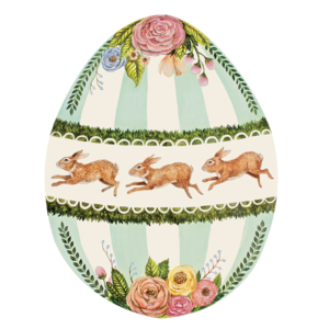 Die Cut boxwood Bunny placemat