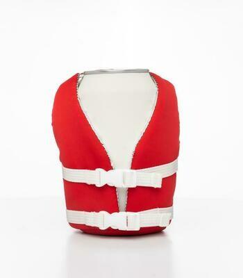 Flag Red beverage life vest