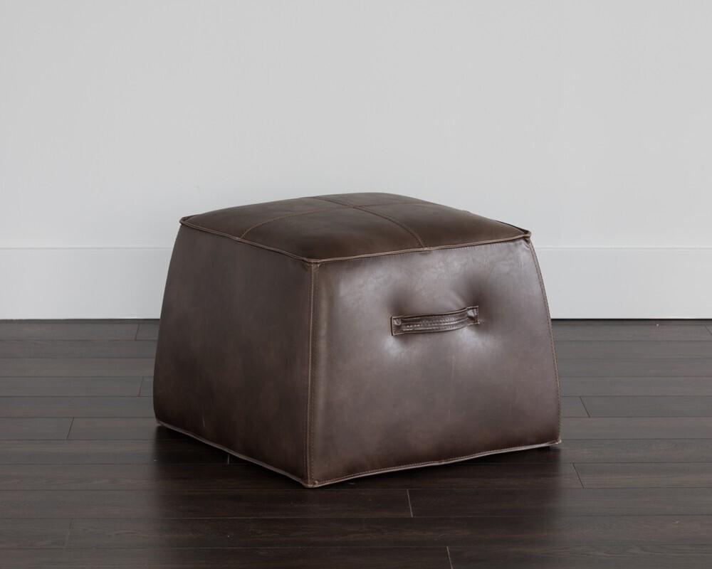 Aspen Ottoman-Havana Dark Brown