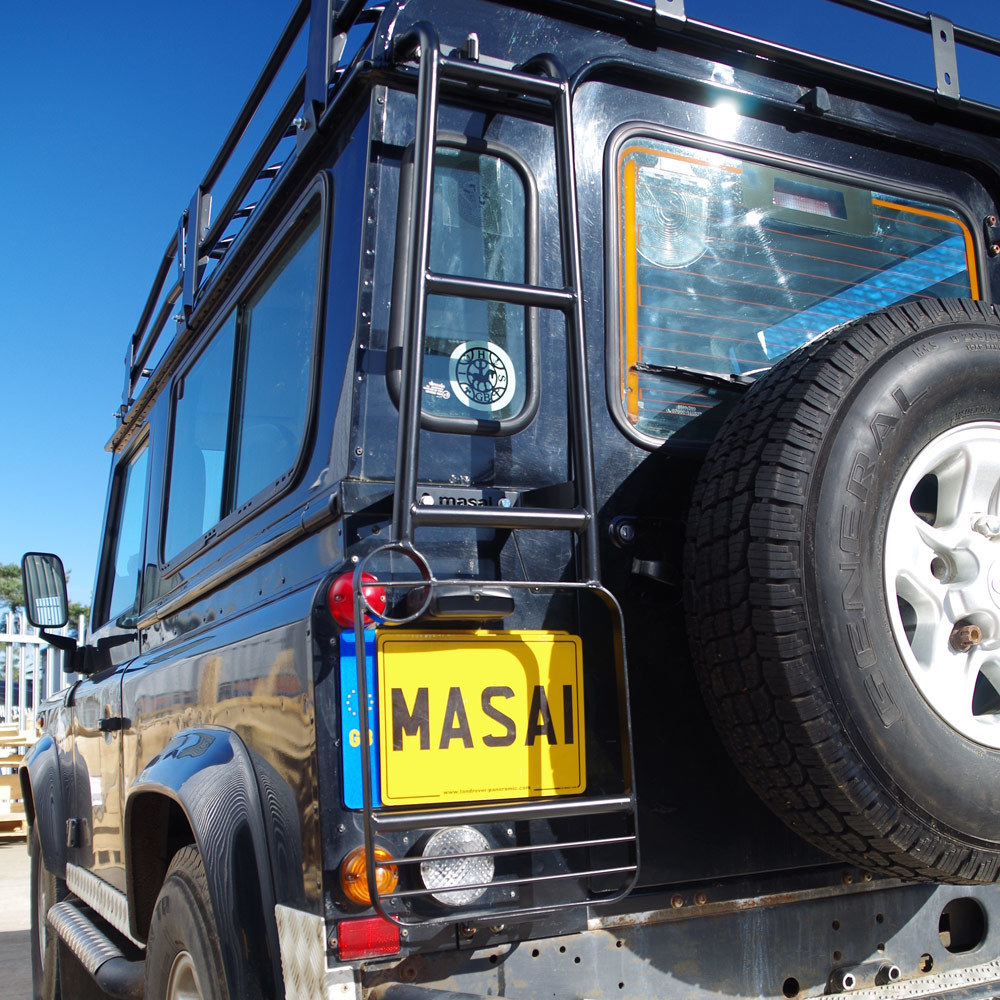 Masai Design Rear Roof Access Ladder For Land Rover