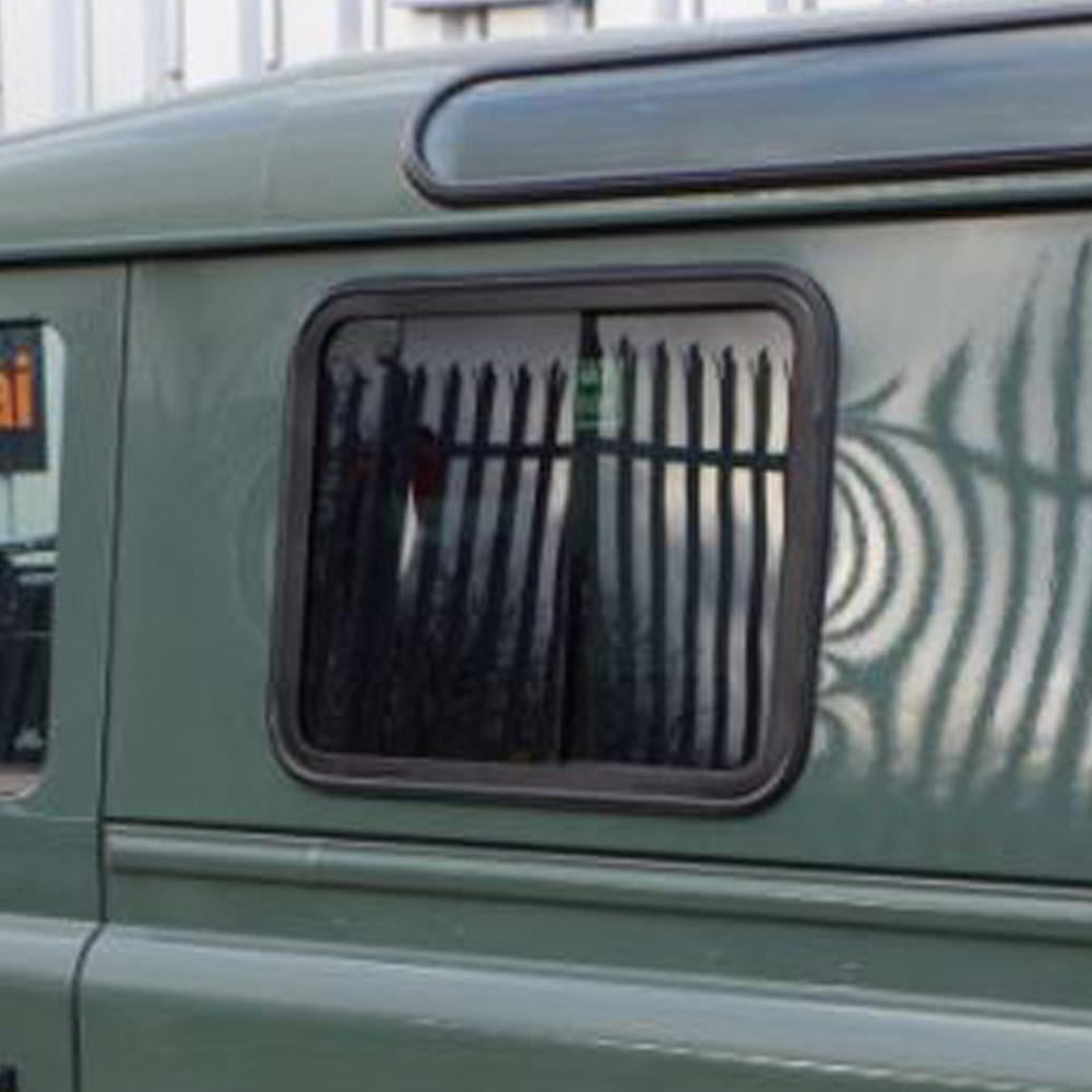 Slide Opening Dark Tinted Blind Spot Side Windows For Land Rover Defender Pair Blind Spot
