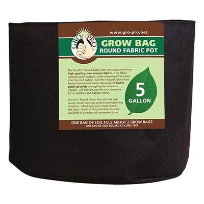 Gro Pro Premium Round Fabric Pots - Black