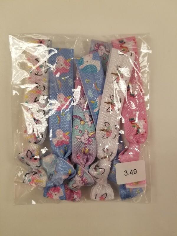 Unicorn hair tie pk