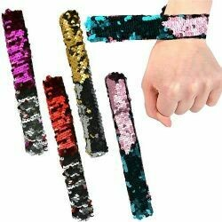 Sequin Slap Bracelet-3 pack