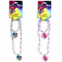 Trolls Necklace & Bracelet Set