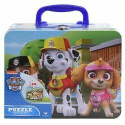Paw Patrol lunch box tin w/puzzle