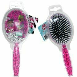 LOL OMG hair brush with floating confetti