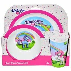 Unicorn 3pc Dinner Set