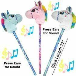 Unicorn Horse on a Stick w/Sound