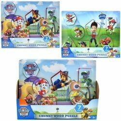Paw Patrol Chunky Wood Puzzle Asst.
