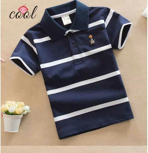 Blue Striped Polo