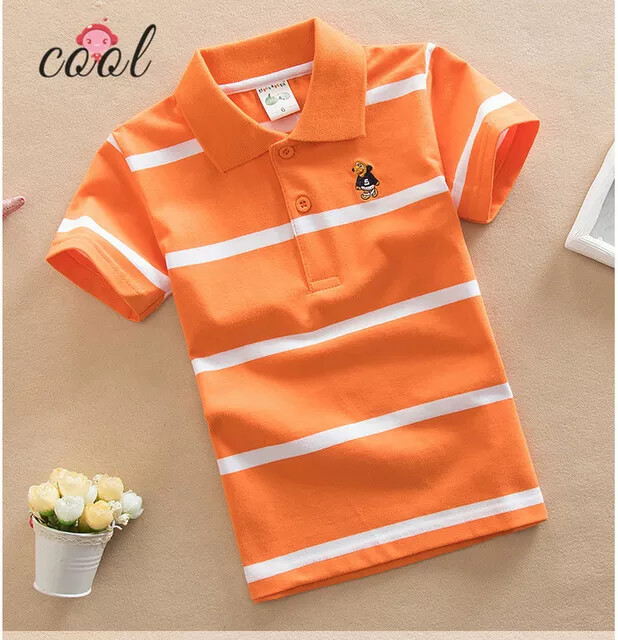Orange Striped Polo