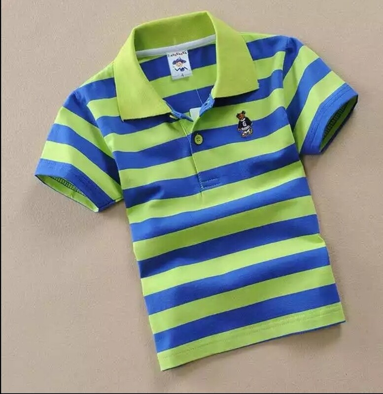 Lime/Navy Polo