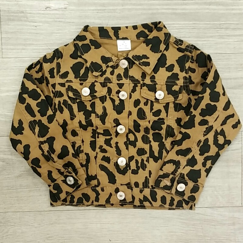 Denim Leopard Jacket - I