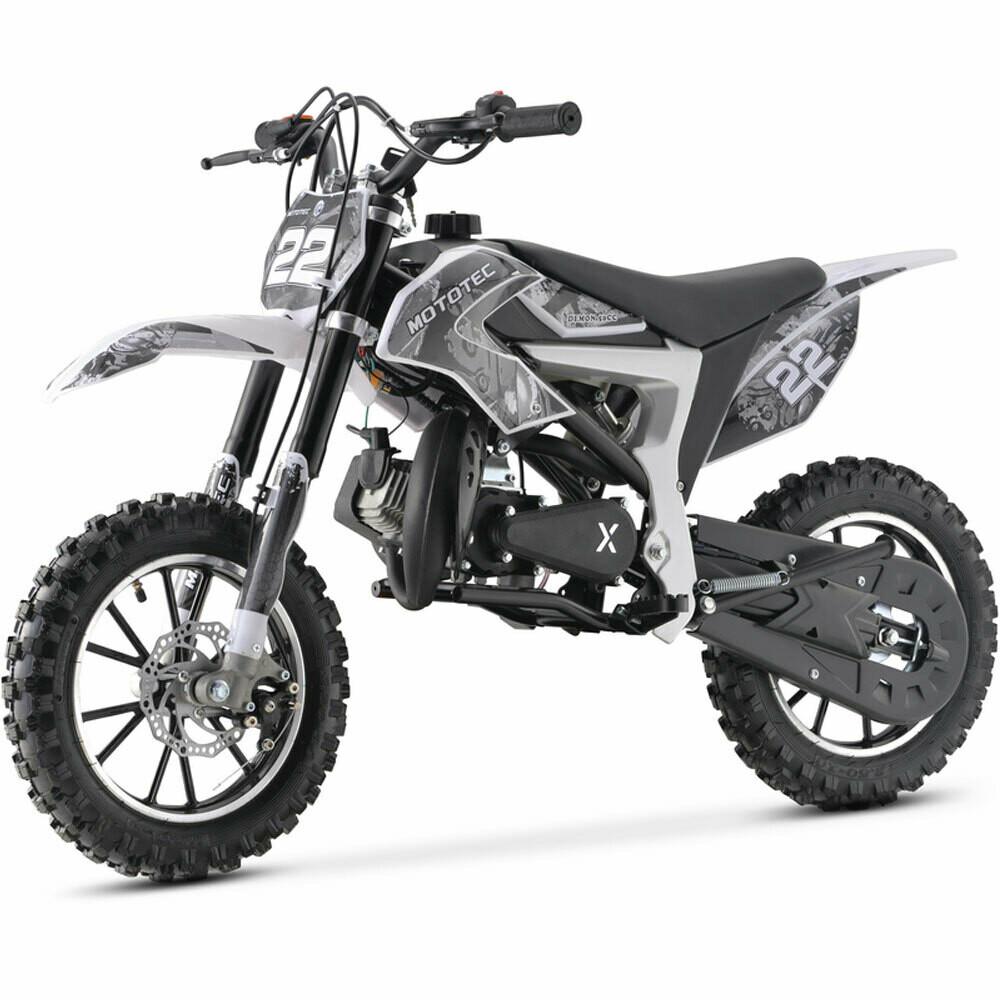 Mototec 50cc Demon Kids Gas Dirt Bike white
