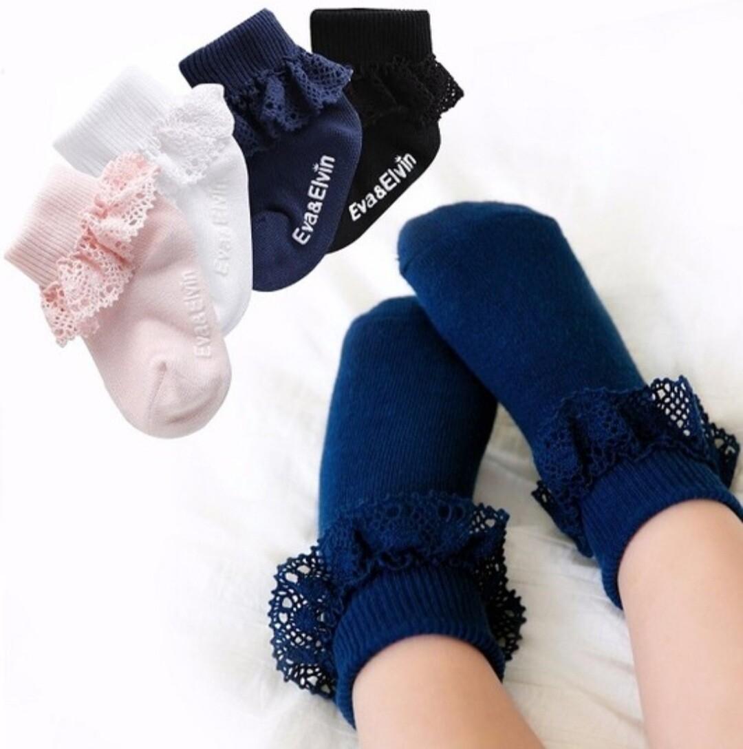 Cotton Ruffle Socks