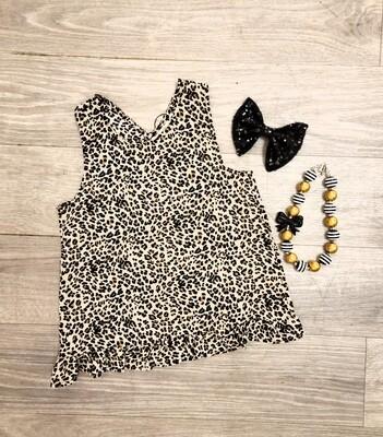 Cross Back Top - Leopard
