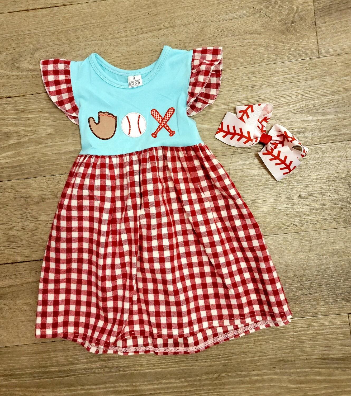 Plaid Baseball Dress