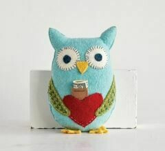 CRE OWL WOOL TOOTH PILLOW