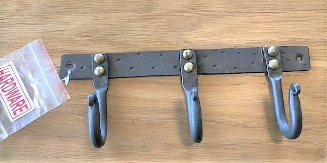 CRE HAND FORGED IRON 3-WALL HOOK