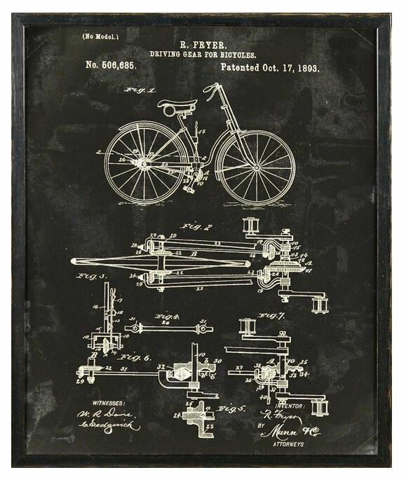 CEL BICYCLE PATENT 16x20
