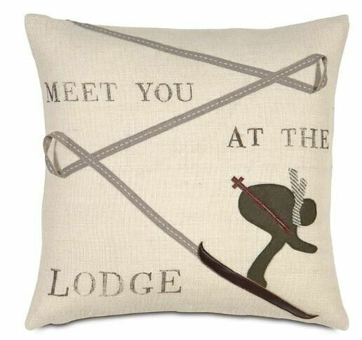 EAS Meet You At The Lodge Pillow