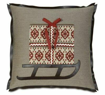 EAS Santa's Sleigh Pillow