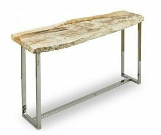 PETRIFIED WOOD CONSOLE TABLE