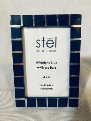 BLUE & SILVER BAR FRAME 4x6