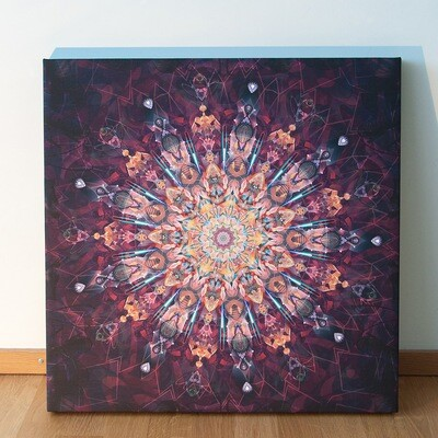 Mandala Flower Leinwand