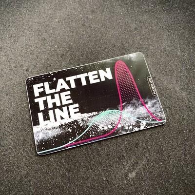 Pulverkarte: Flatten the Line