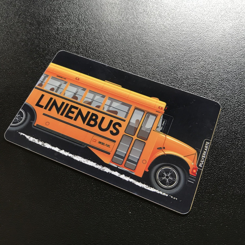 Pulverkarte: Linienbus
