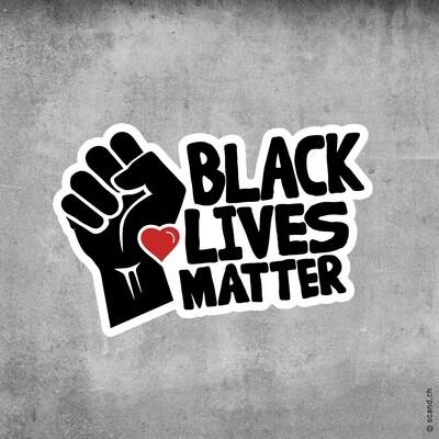 """Aufkleber """"Black Lives Matter"""" (10 Stück)"""