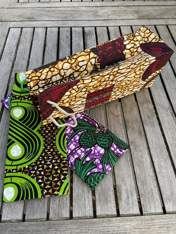 Flaschen-Geschenkbeutel gross Africanstyle