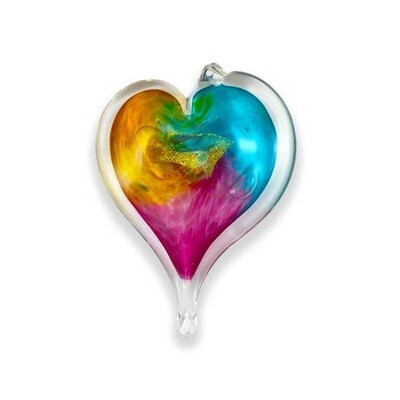 LUKE ADAMS HANDMADE SMALL GLASS HEART