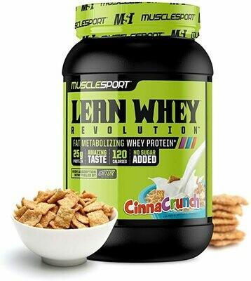 Muscle Sport Lean Whey 2lb Cinna Crunch