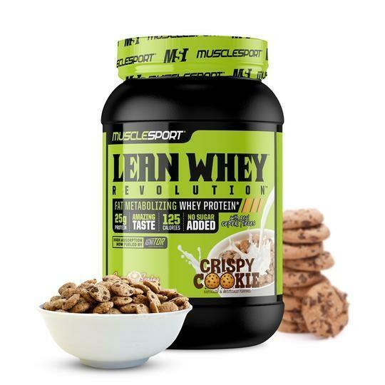 Muscle Sport Lean Whey 2lb Crispy Cookie