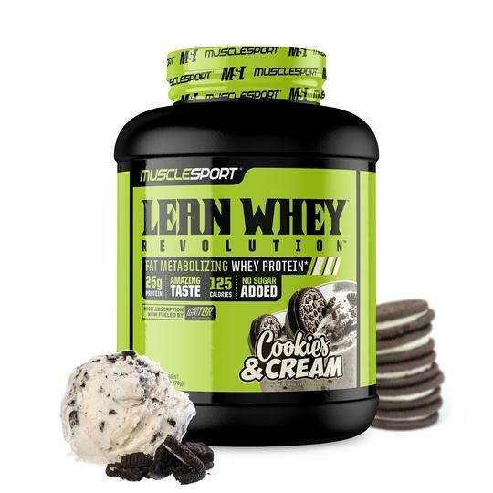 Muscle Sport Lean Whey 5lb Cookies and Cream