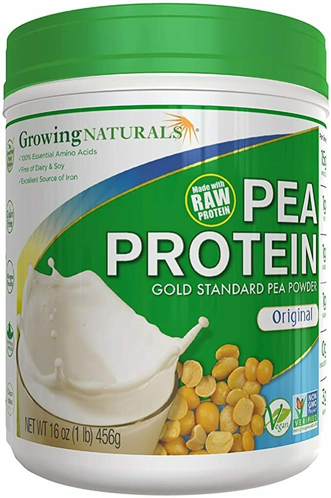 Growing Naturals Pea Protein 1lb Original