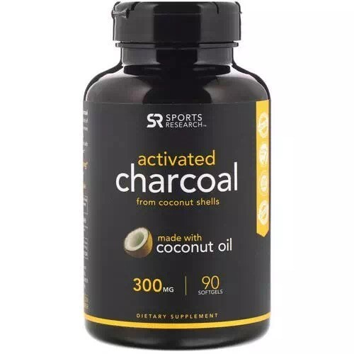 Sports Research Activated Charcoal 300mg 90gels