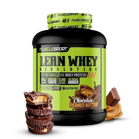 Muscle Sport Lean Whey 5lb Choc Peanut Butter