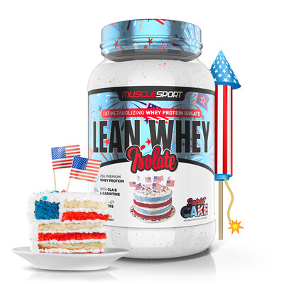 Muscle Sport Lean Whey 2lb Patriot Cake