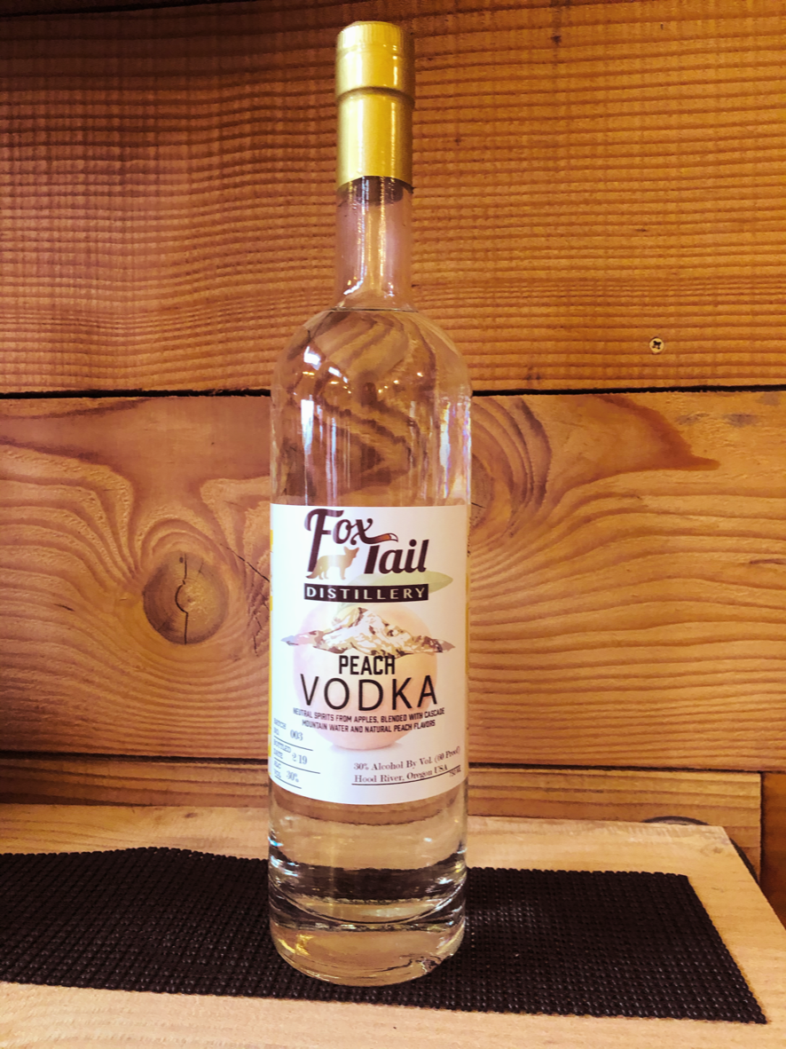 """Peach Vodka"" Vodka made from Apples and natural flavorings"