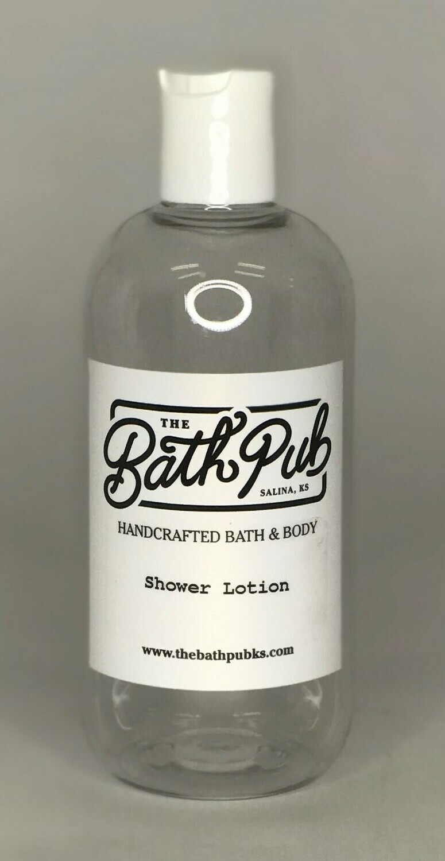 SHOWER LOTION 8 oz + Exfoliating Salt Scrub 16 oz