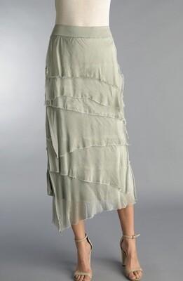 Tempo Paris - 6582P - skirt tiered 3/4 length