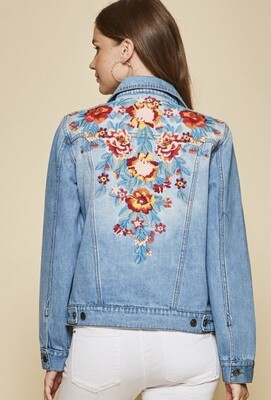 Savanna Jane - K16430 - Jacket Denim embroidered