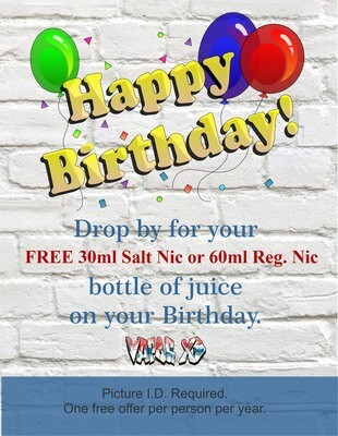 FREE ON YOUR BIRTHDAY